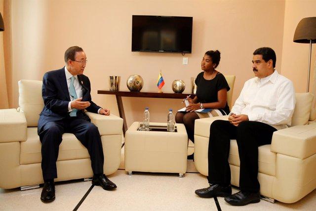 Ban Ki Moon y Nicolás Maduro en La Habana