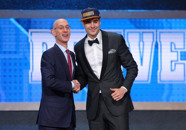 Juancho Hernangómez, en el draft de la NBA elegido por Denver Nuggets