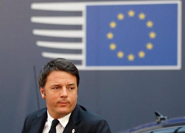 El primer ministro italiano, Matteo Renzi, en una cumbre en Bruselas