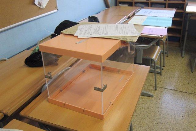 Urnas en jornada electoral