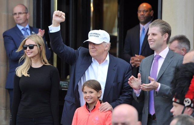 Donald Trump, de visita en Escocia