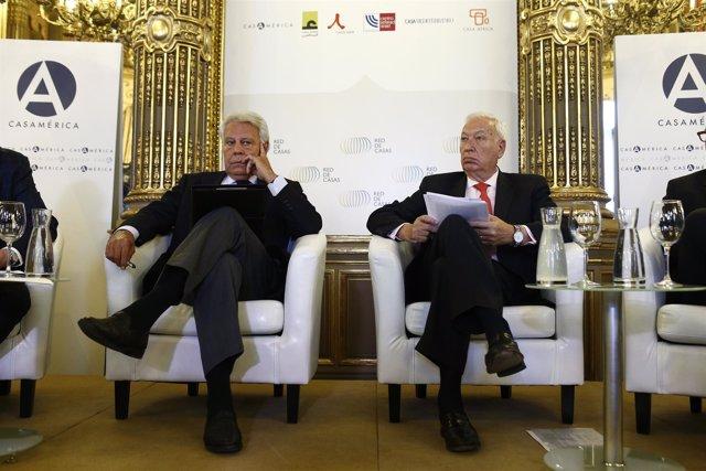 Felipe González y José Manuel Margallo