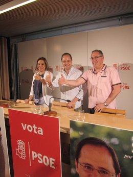 Luena, con Martínez Aldama y De Pablo