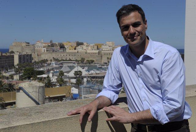 Pedro Sánchez, en su última visita a Melilla