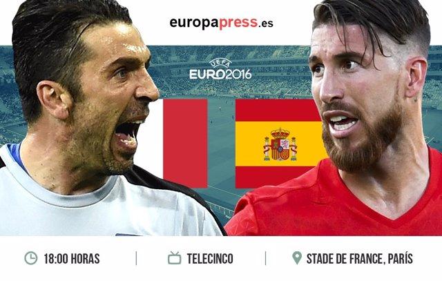 Horario y dónde ver Italia - España Octavos Eurocopa 2016