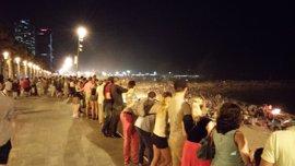 Sant Joan.- Unas 52.000 personas celebran la verbena en las playas de Barcelona