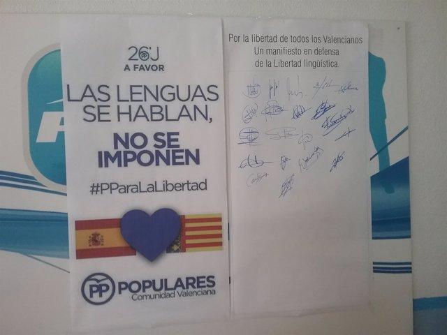 Manifiesto del PP sobre libertad lingüística