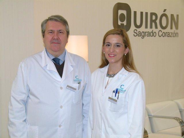 Los doctores Victoria Rey y José Luis García Benítez