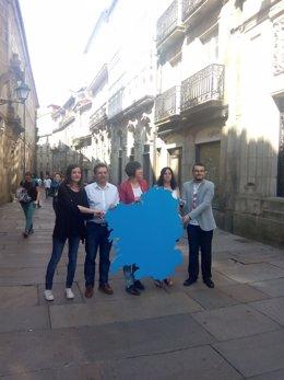 Ana Pontón durante un acto de cierre de campaña en Santiago