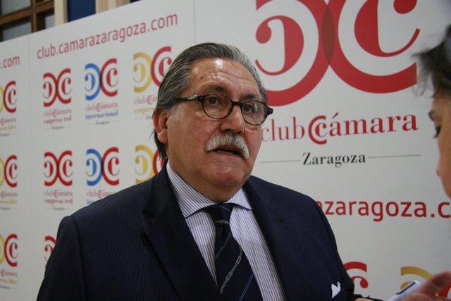 El presidente de la Cámara de Comercio Zaragoza, Manuel Teurel.