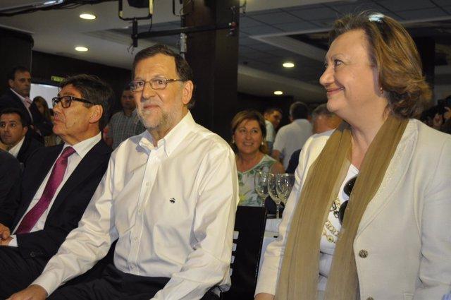 Rajoy y Rudi, en un acto en Teruel este viernes