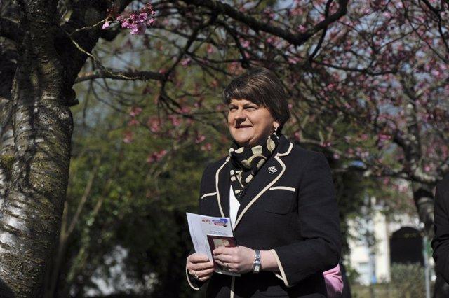 Arlente Foster, ministra principal de Irlanda del Norte