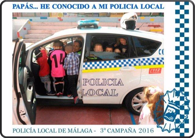Campaña de la Policía Local de Málaga con escolares