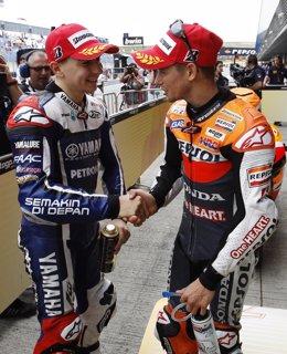 Casey Stoner y Jorge Lorenzo