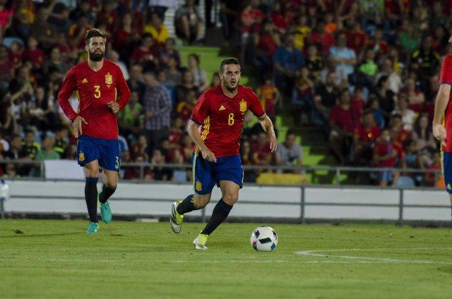 Koke en el partido de España - Georgia