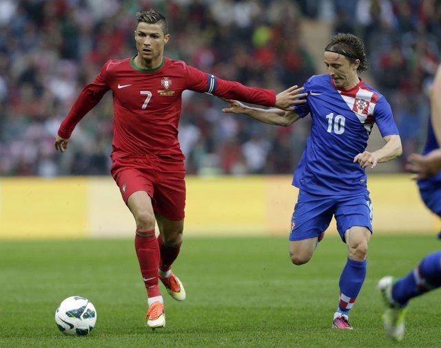 Cristiano Ronaldo Luka Modric Portugal Croacia