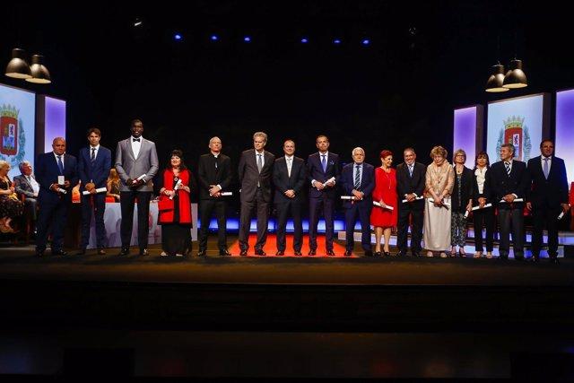 Hidalgo, con los premiados