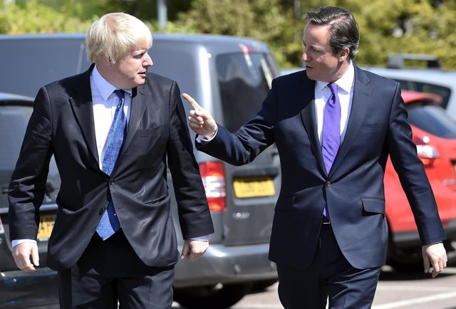 David Cameron y Boris Johnson