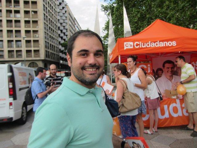 El cabeza de lista de Ciudadanos por Zaragoza al Congreso, Rodrigo Gómez