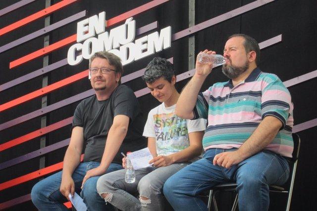 Xavier Domènech, Lucía Martín, Joan Mena (ECP)