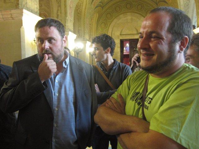 Oriol Junqueras (ERC) David Fernández (CUP)