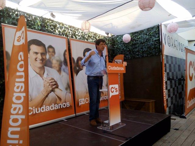 Juan Marín, en el cierre de campaña