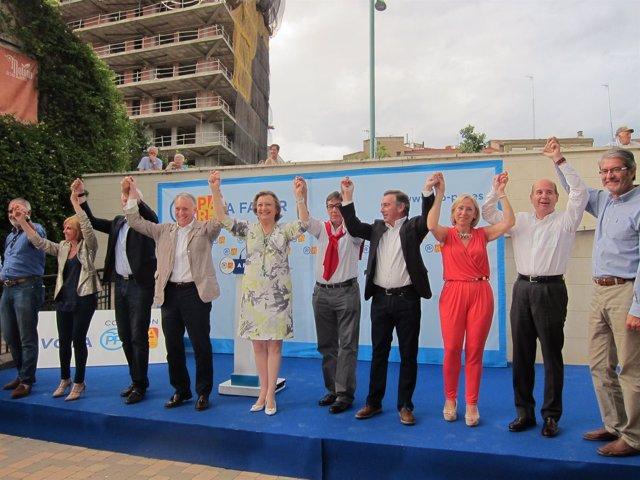 Rudi y Aliaga, esta tarde junto a candidatos del PP-PAR en el cierre de campaña