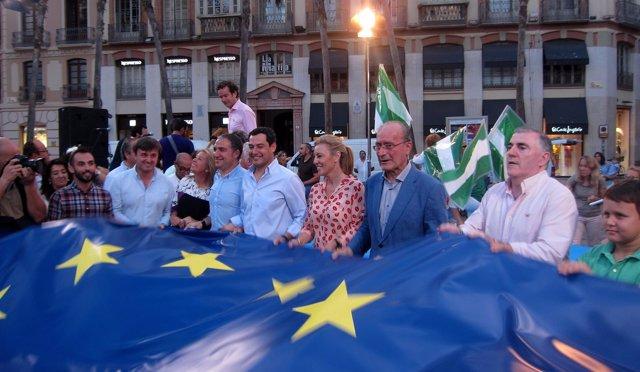 ELIAS BENDODO, JUANMA MORENO, CAROLINA ESPAÑA EN CIERRE CAMPAÑA 26J