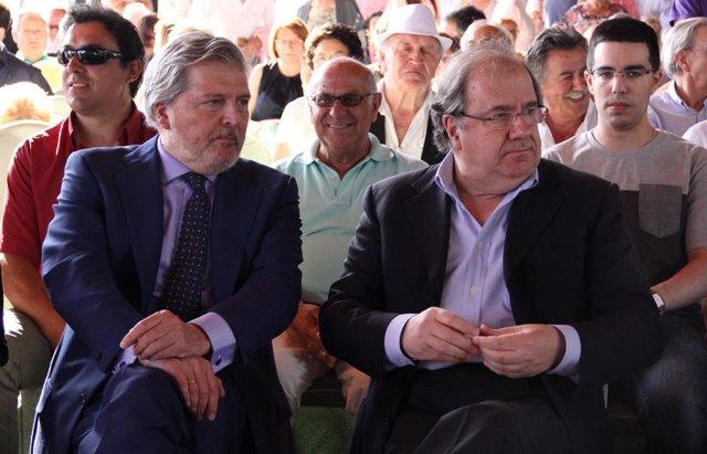 Méndez de Vigo y Herrera, durante el acto en Palencia