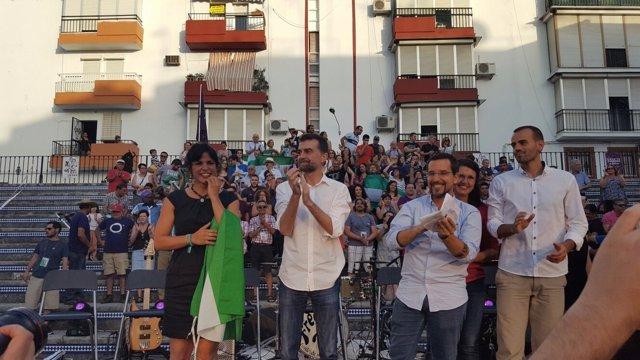 Teresa Rodríguez y Antonio Maíllo cierran la campaña