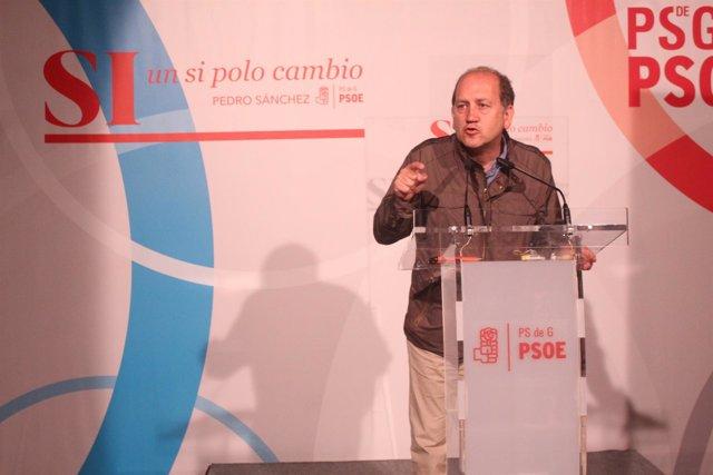 El candidato del PSdeG a la Xunta, Xoaquín Fernández Leiceaga
