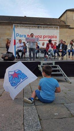 Mitin de cierre de campaña del BNG. En Pontevedra