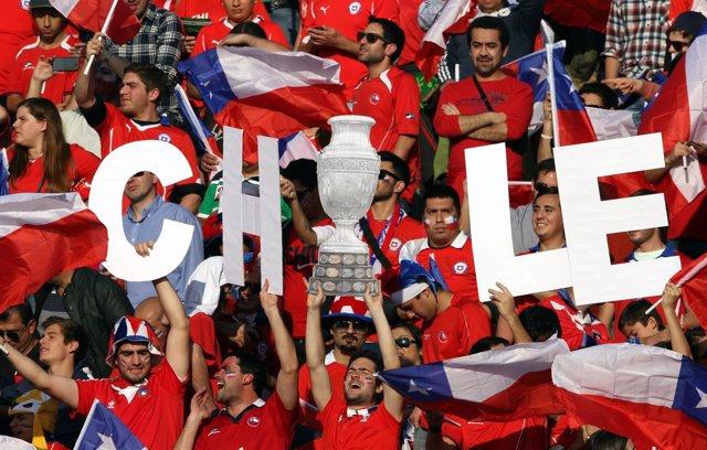 Aficionados selección chilena de fútbol