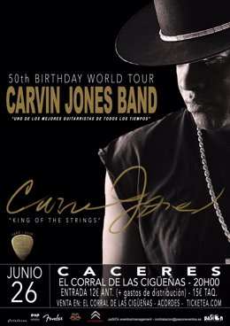 Cartel de Carvin Jones en Cáceres