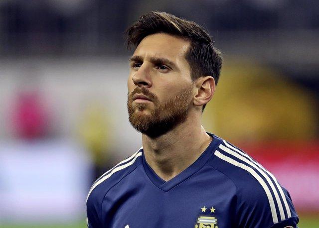 Lionel Messi con la selección argentina en la Copa América