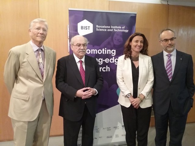 Rolf Tarrach, Andreu Mas-Colell, Mercè Conesa Y Arcadi Navarro