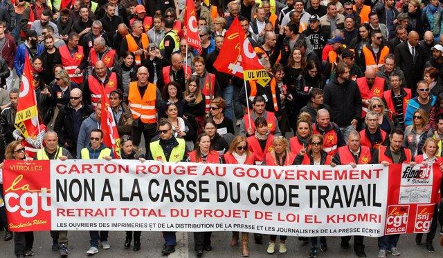 Protestas en Francia - Sindicatos franceses 2016