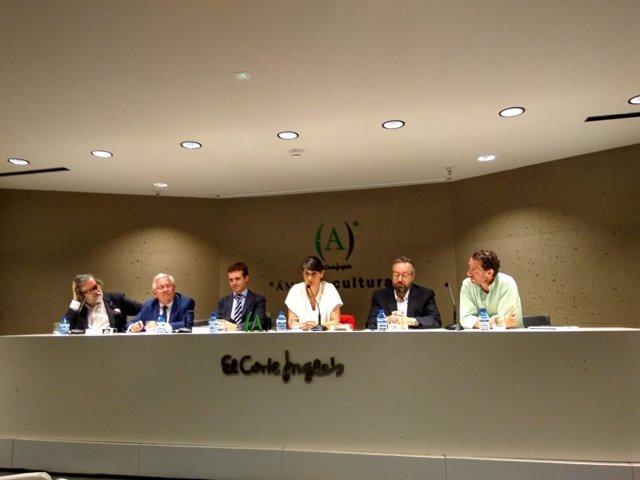 Presentación del libro 'Es el cambio, estúpido! con Casado, Veracruz y Girauta