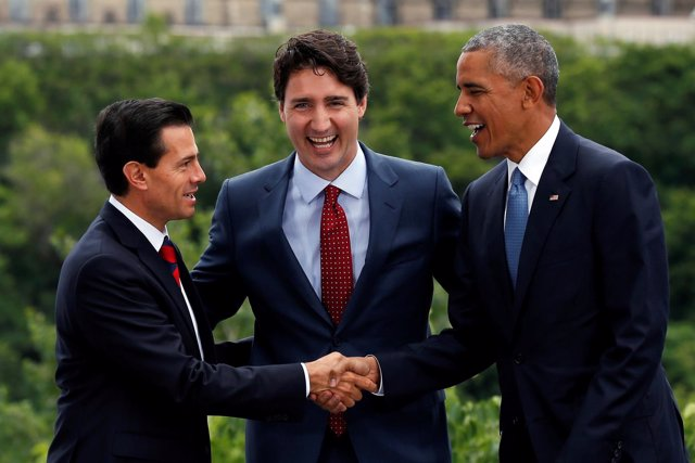 Obama, Peña Nieto y Trudeau, reunidos en Ottawa