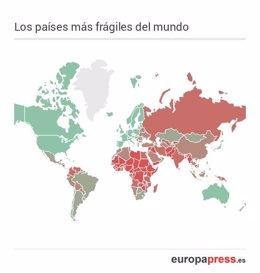 Los países más frágiles del mundo