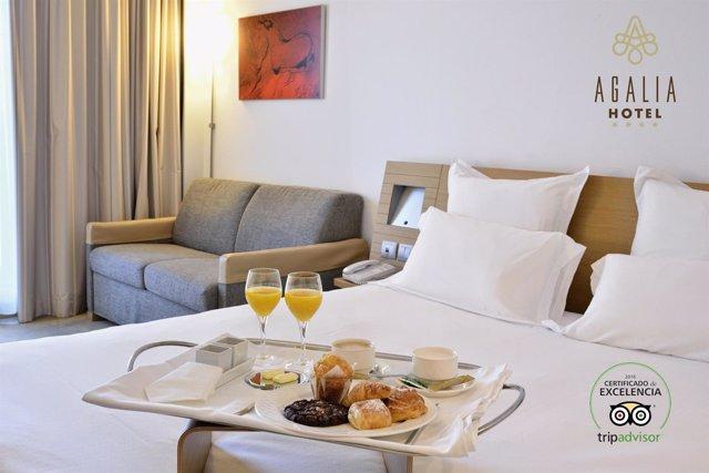 Agalia Hotel logra el Certificado de Excelencia de TripAdvisor 2016