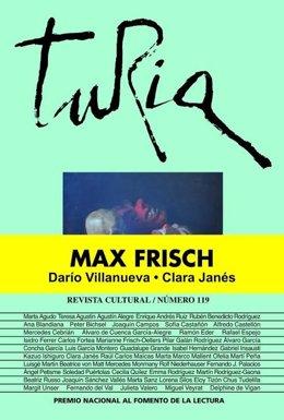Portada de Turia dedicada al escrito suizo Max Frisch