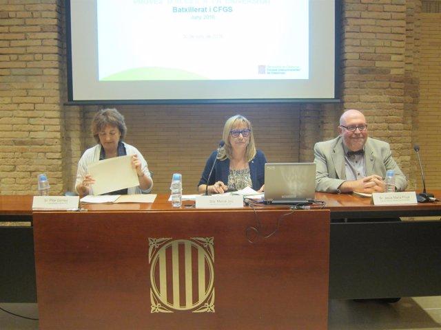 Pilar Gómez, Mercè Jou y Josep Maria Prujà