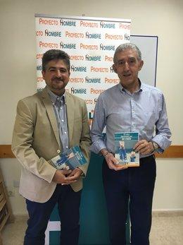El director y el presidente de Proyecto Hombre La Rioja, García y Lleyda