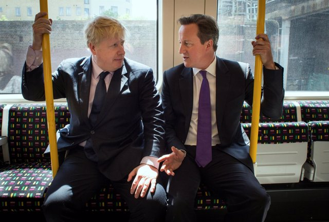 Boris Johnson y David Cameron