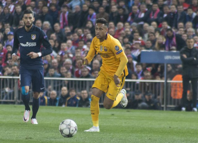 Neymar, Champions League, Vicente Calderón, Atlético-Barcelona