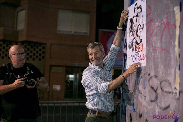 El candidato número uno de Unidos Podemos por Almería, Julio Rodríguez