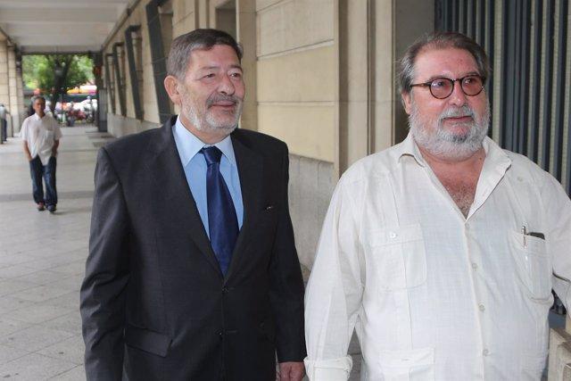 Francisco Javier Guerrero llega a los juzgados junto a su abogado