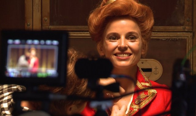 Elena Anaya en el rodaje de Zipi y Zape y la Isla del Capitán