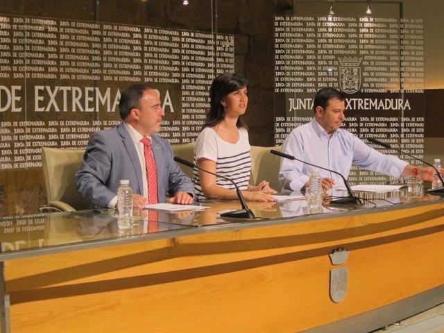 Francisco Martín, Miriam García Cabezas y Felipe Sánchez